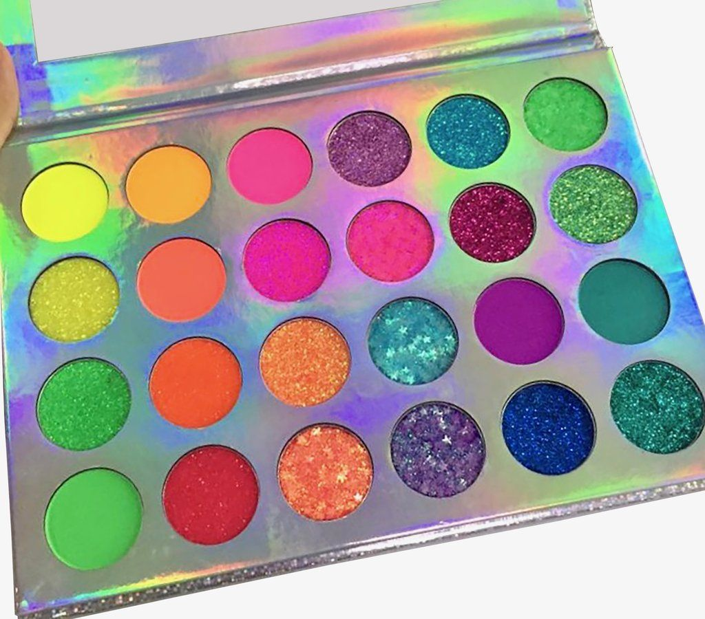 NEON LIGHTS 24 Color Glitter and Eyeshadow Palette UVGlow