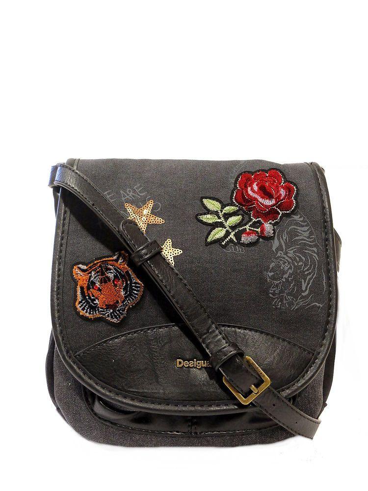 Edle Desigual Handtasche Umhängetasche Schultertasche Tasche
