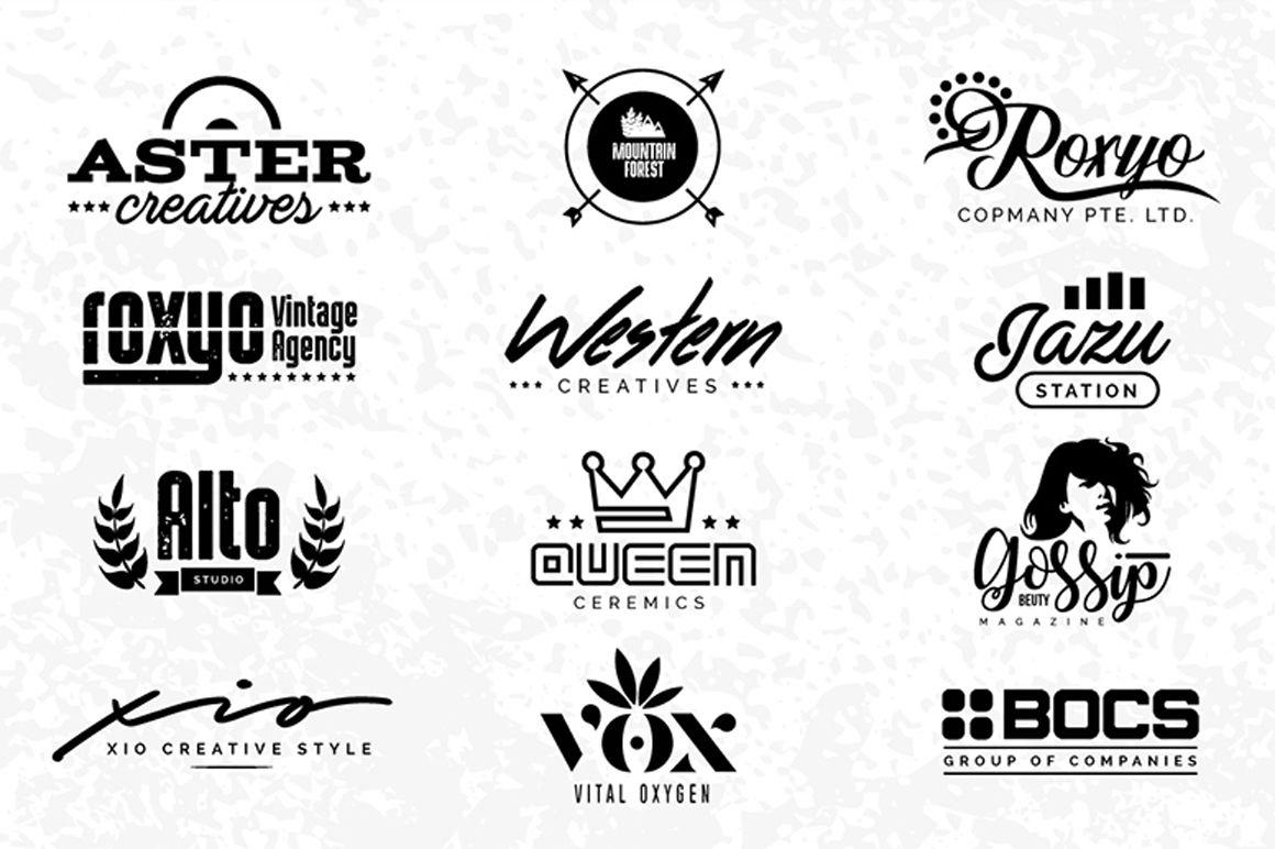 Retro Minimal Logo Design Collection Free Pixelify