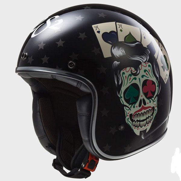 ls2 casque jet fibre moto scooter tattoo noir. Black Bedroom Furniture Sets. Home Design Ideas