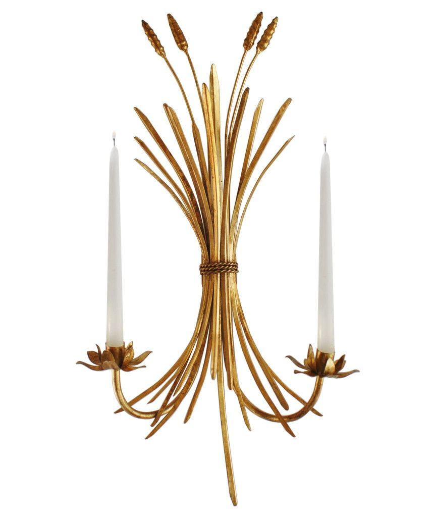 Wheat Sheaf Wall Sconce Candle Holder Candle Holder Wall Sconce Candle Wall Sconces Sconces