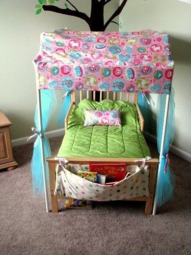 Toddler Bed Canopy Made From Pvc Pipe By Jessie