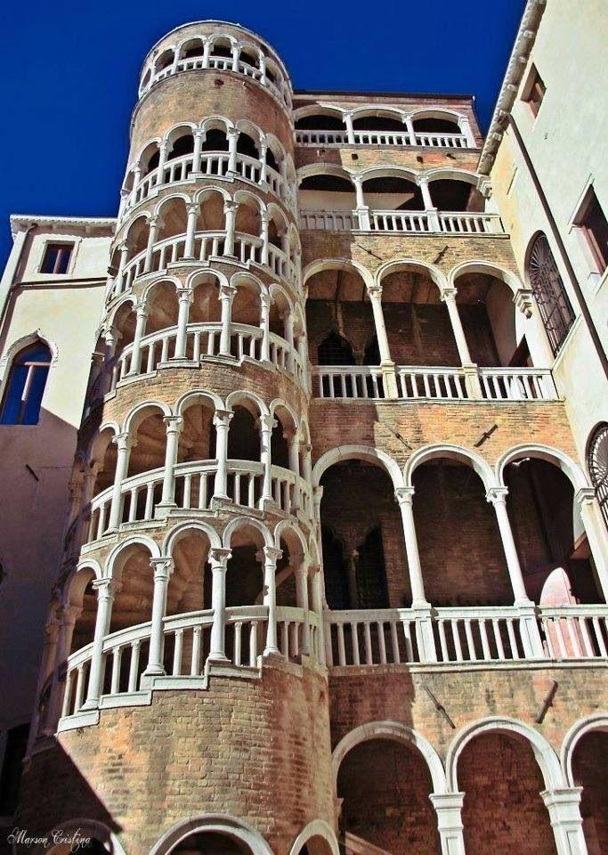 Spirál staircase, Venice