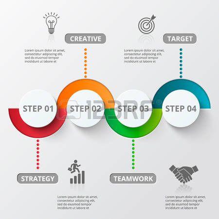 prozess: Infografik-Design-Vorlage und Marketing-Icons. Vorlage für ...