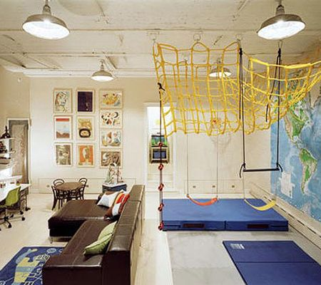 gymnastic themed interactive playroom - and my friends think I am ...