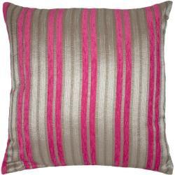Almofada Baroque Stipes Rosa.  Almofada às riscas rosa e cinzento para alegrar o seu sofá da sala.