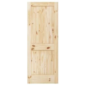 Steves Sons 2 Panel Square Plank Unfinished Knotty Pine Interior Door Slab L64nsnnnac99 At The Home Pine Interior Doors Doors Interior Sliding Doors Interior