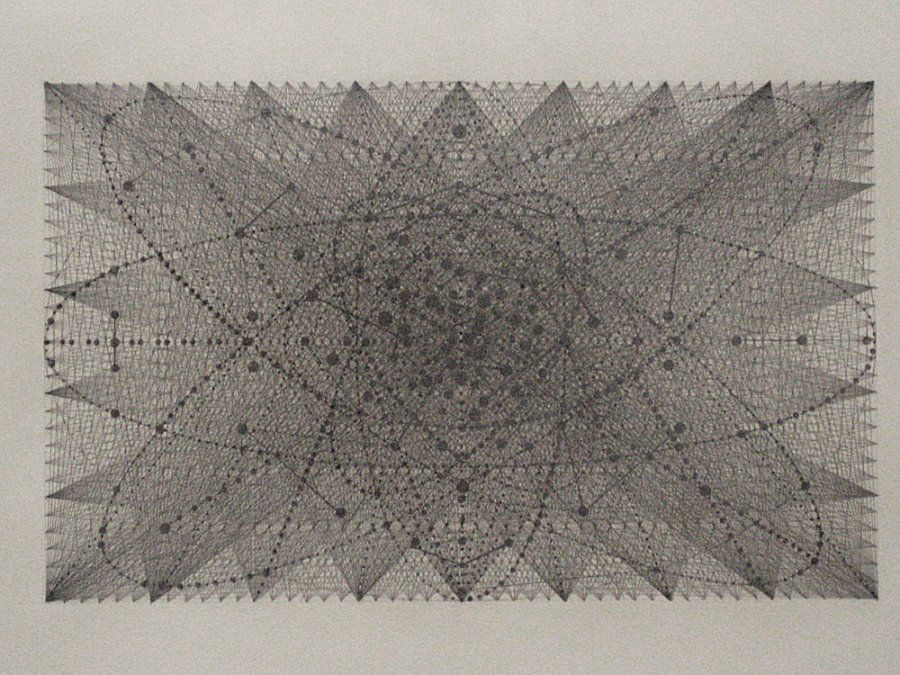 Laura Battle, Heart, 2007, graphite on grey paper, 22 x 30in