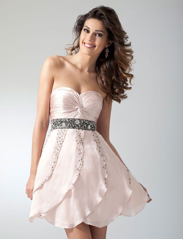 40ad57d554d Clarisse Homecoming Dress 1650 - Blush short formal dresses