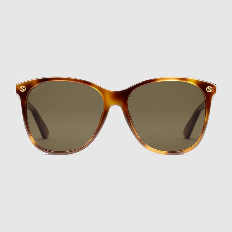 c91ba882df18b Óculos De Sol Para Mulheres · Havana · Oversize round-frame acetate  sunglasses Lentes, Arredondamento, Óculos, Gucci, Marrom,