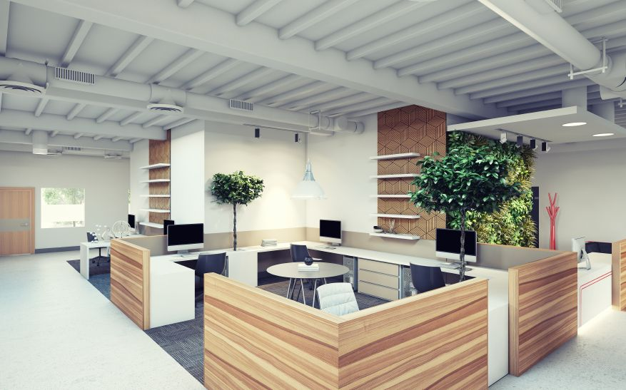 Designing office space layouts