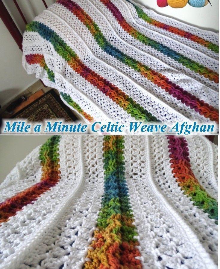 Mile a Minute Celtic Weave Afghan - FREE PATTERN   Meladora\'s ...