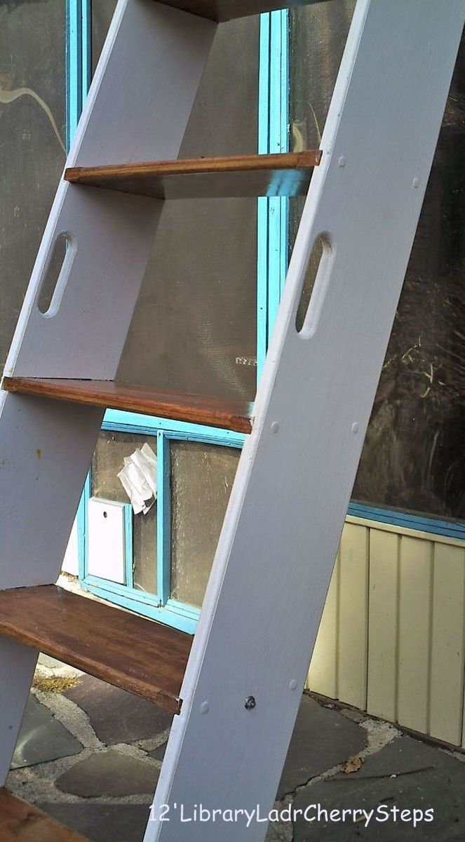 Custom Made Loft Ladder; Library Ladder - via creative carpentry on custommade.com & Custom Made Loft Ladder; Library Ladder - via creative carpentry on ...