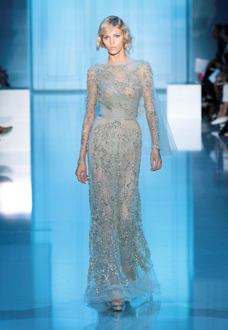 Blue lace wedding pinterest haute couture elie saab dresses