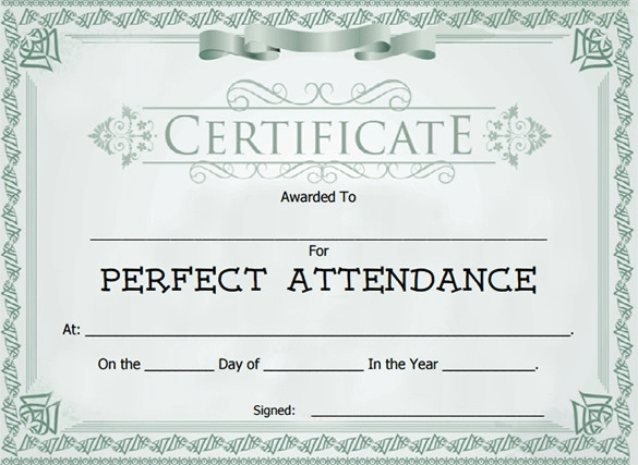 Docs Pdf Psd Free Premium Templates Perfect Attendance Attendance Certificate Perfect Attendance Certificate