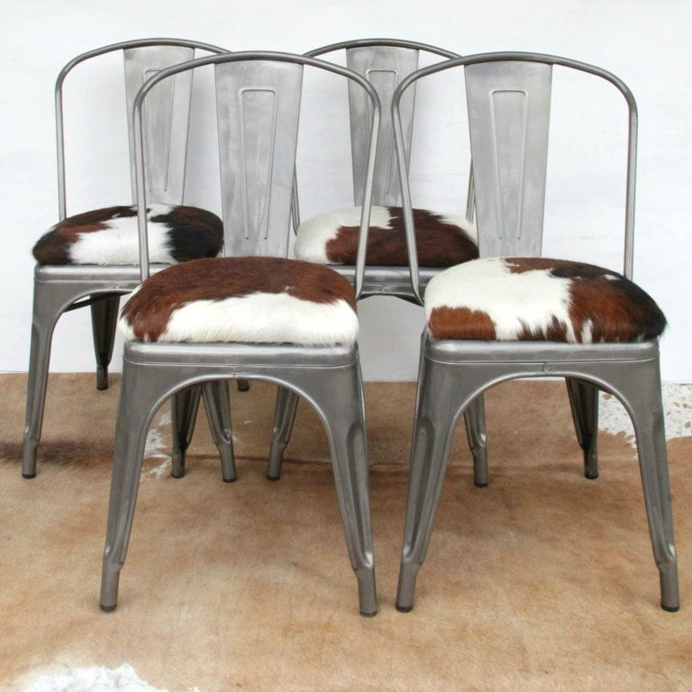 London Cows Limited You Choose The Hide Tolix Style Chair With Cowhide Seat