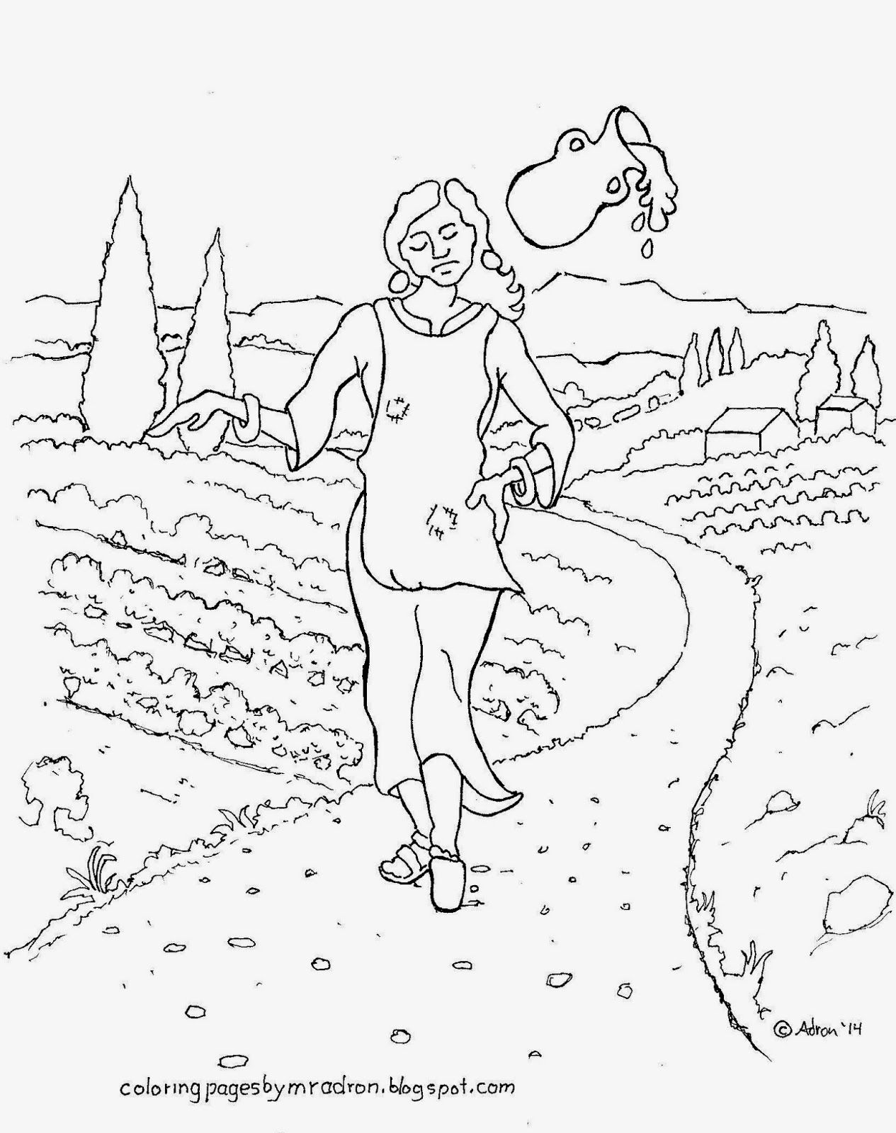 Aesop S Fable Coloring Page Of The Milkmaid See More At