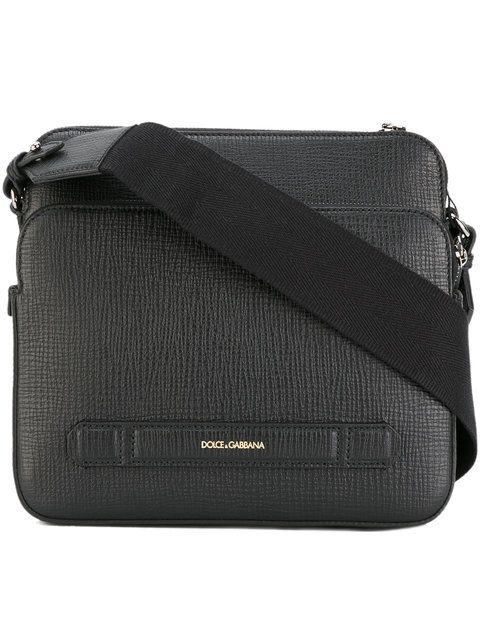 7ce14d6a4320 Shop Dolce   Gabbana double compartment messenger bag.