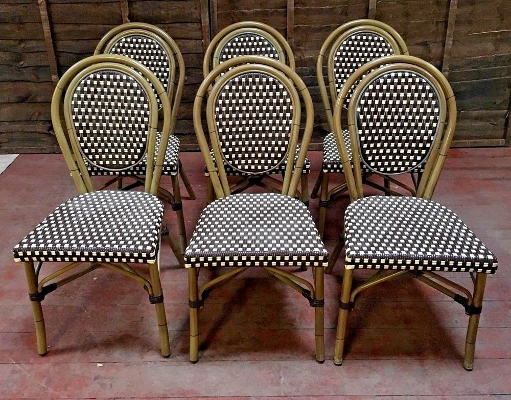 woven plastic garden chairs perfect beach chair set of 6 cane conservatory indoor outdoor unbranded industrial