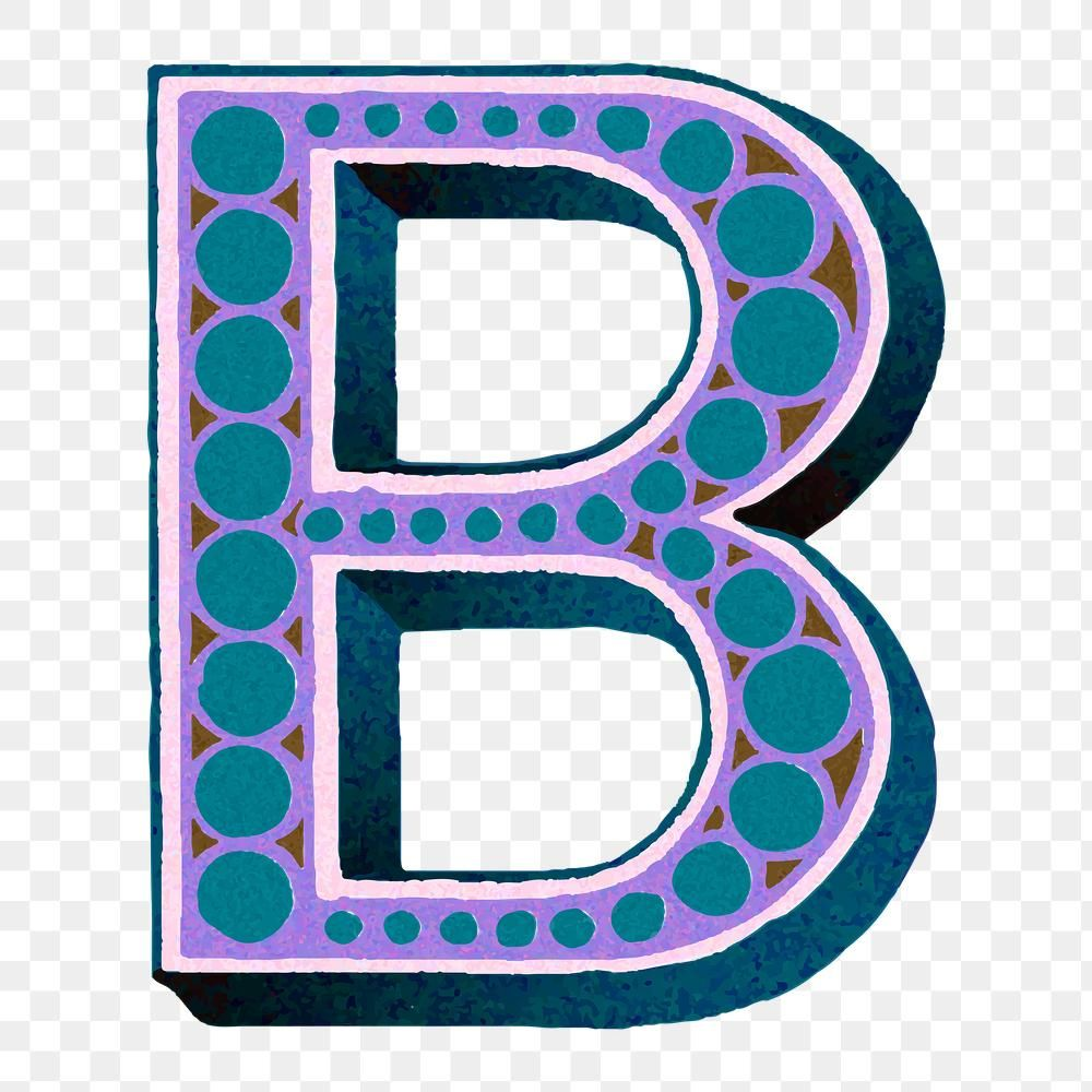 Retro Letter B Alphabet Font Png Free Image By Rawpixel Com Sasi Fonts Alphabet Letter B Alphabet