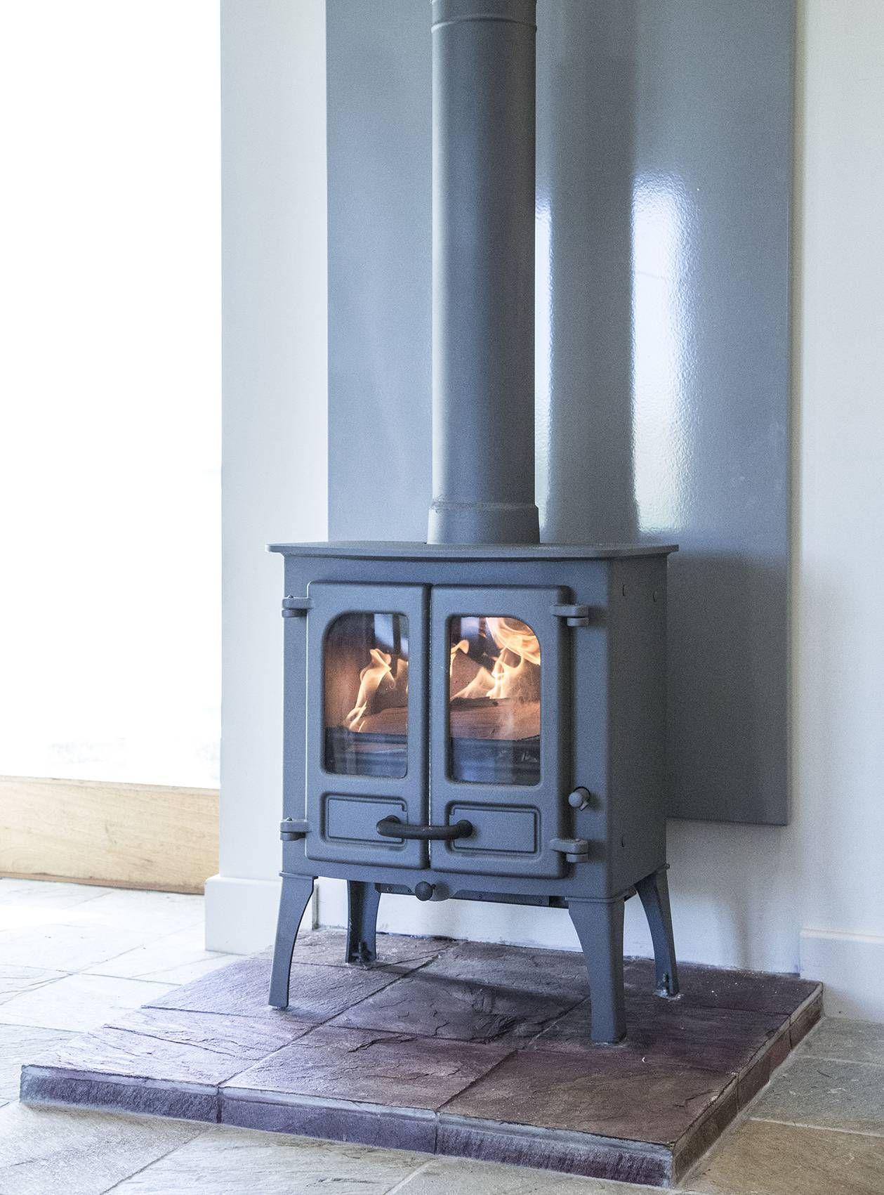 Island Stove With Vlaze Panel Wood Stove Freestanding Fireplace