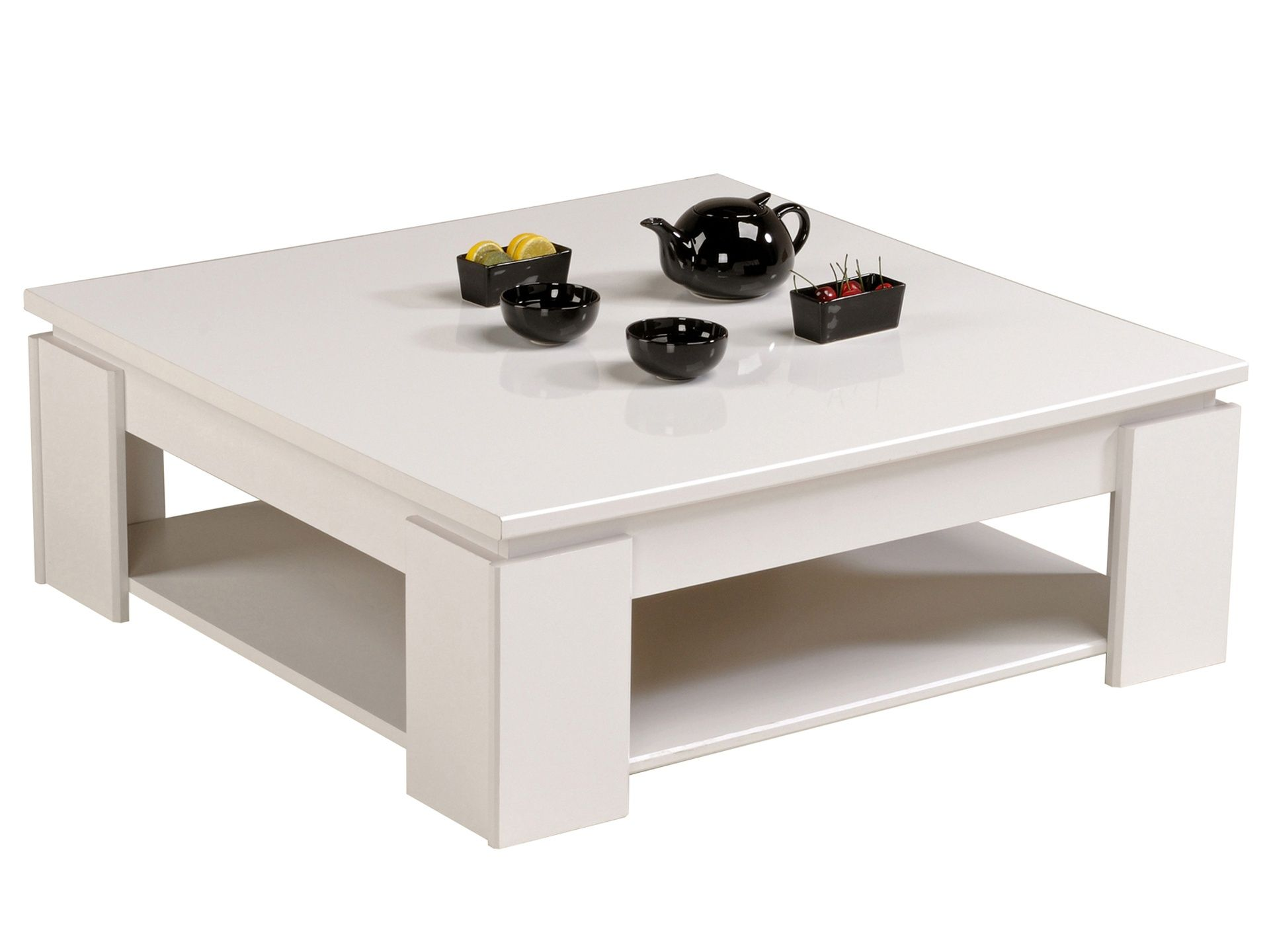 Table Basse Blanche Elina Topdecomeuble Com Grande Table Basse Carree Table Basse Table Basse Carree Blanche