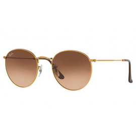 fe715c32f7 Ray Bans RB3447 Round Metal sunglasses – Bronze-Copper Frame   Pink Brown Gradient  Lens