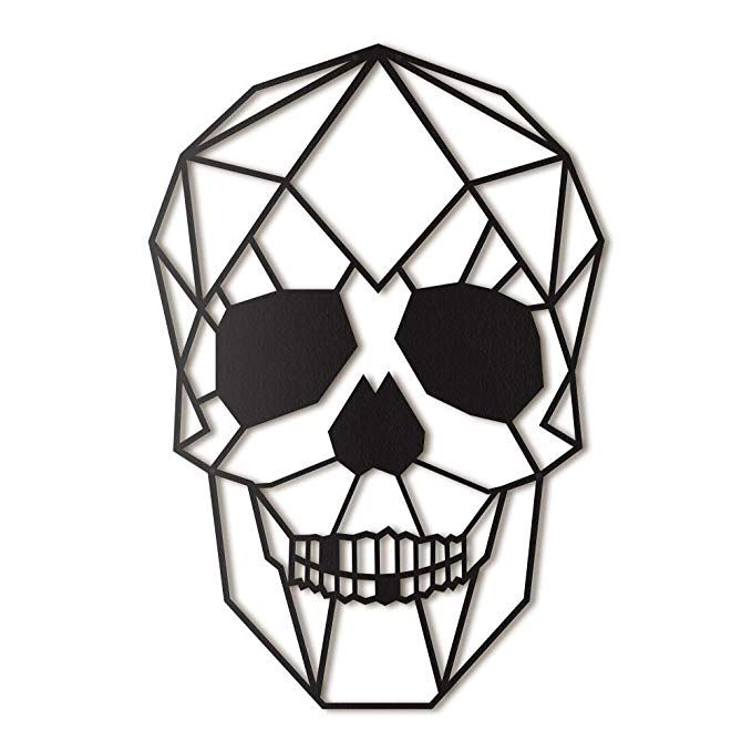 Amazon.com: Hoagard Skull Metal Wall Art 36cm X 52cm