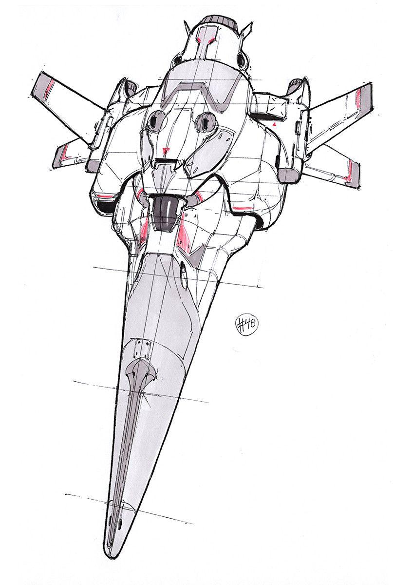 Artstation Spaceship Sketches 03 Chromatinker Sketches