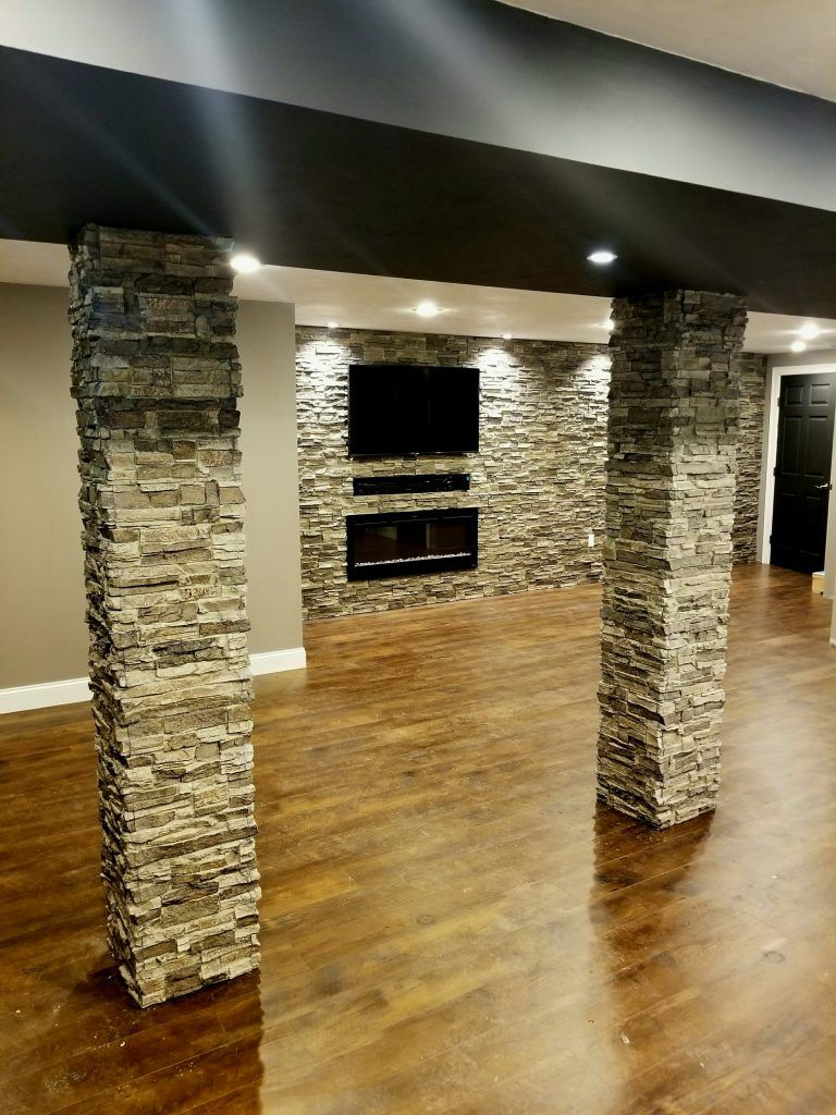 Makeover Masterpiece! New Basement Accent Wall and Columns ...