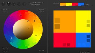 カラーパレットを直感的に作ってページの見え方を確認できPNG・HTML出力もできる「Paletton」