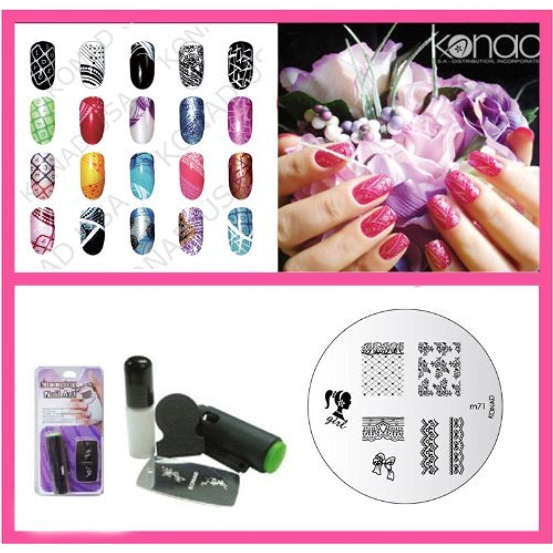 Konad nail art mini set polish stamper nail art accessories