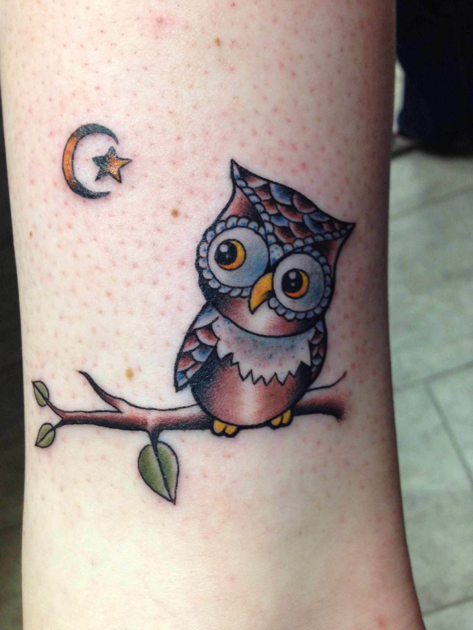 Owl Ankle Tattoo | My Tattoos | Pinterest | Ankle tattoos ...