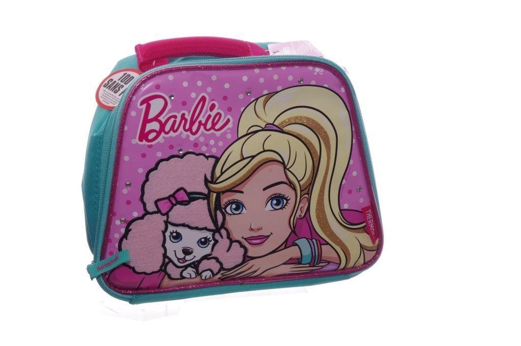 Girls Pink Barbie Glitter Puppy Dog Pet Poodle Pup School Lunch Soft Bag  Box  poodlepups 8c5ca72b9
