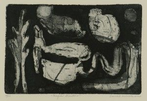 """Lot 221: Louise Nevelson Etching and Aquatint, """"Magic Garden"""". This lot passed in our January 26, 2013 auction."""