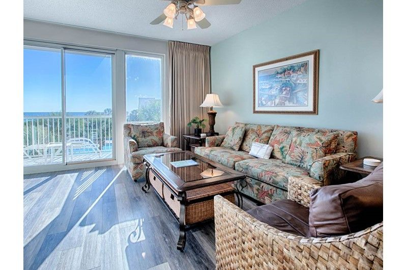 Tropical, cozy decor with Gulf and pool views await at 207 ...
