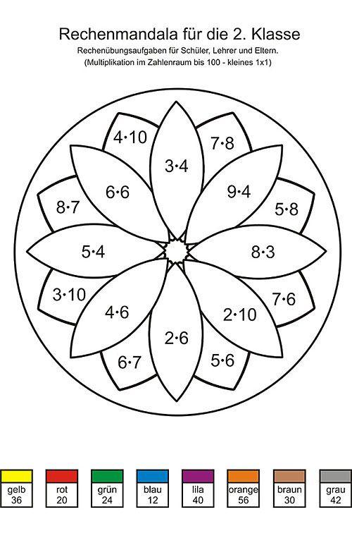 mathe ausmalbilder 2. klasse 01 | 2. Klasse | Pinterest | Mathe ...