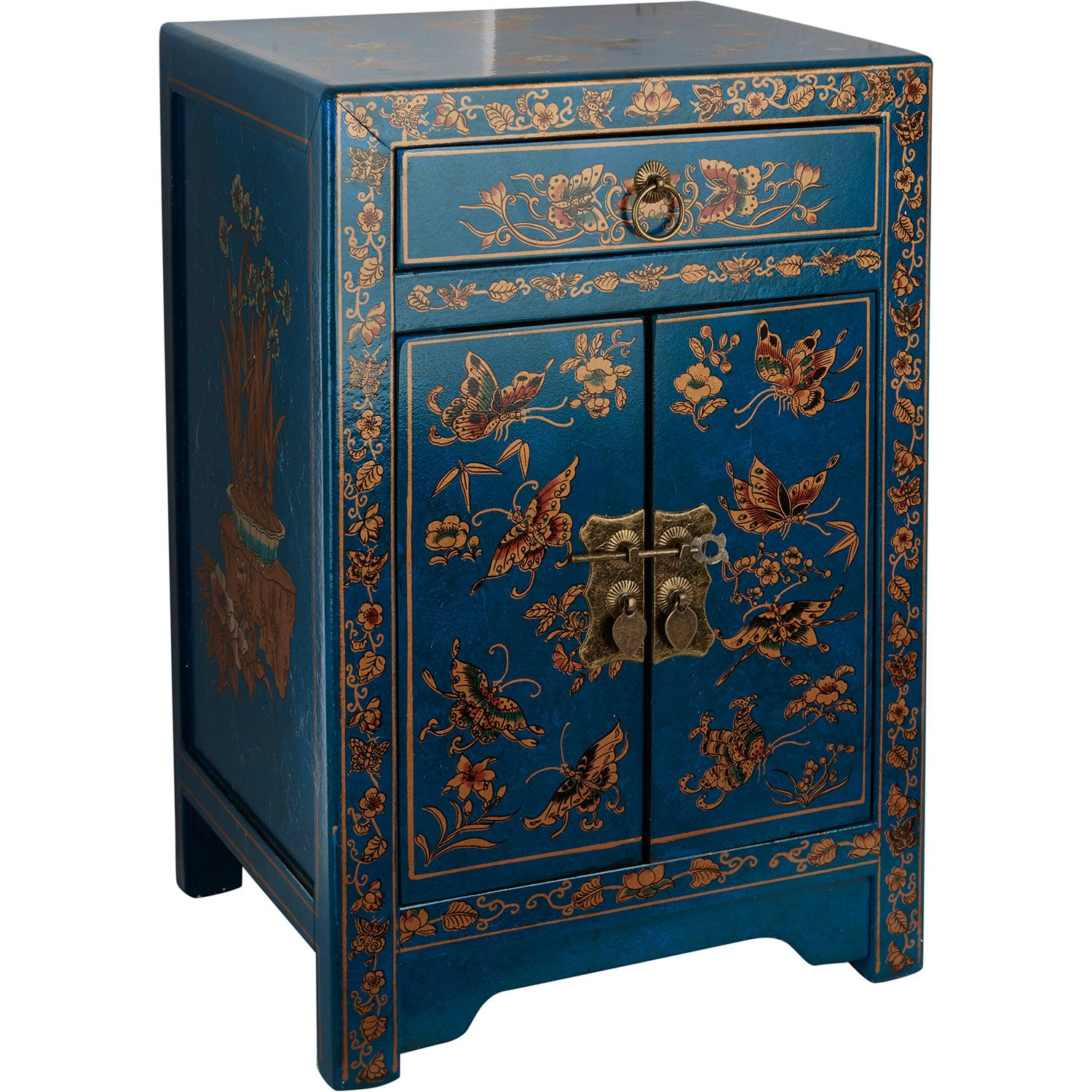 Blue Butterfly Bedside Chest