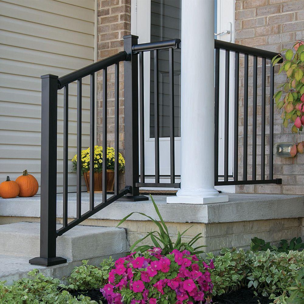 Freedom 6 Ft Winchester Matte Black Aluminum Deck Handrail