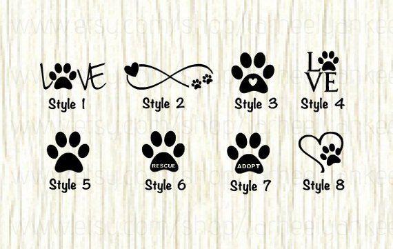 Love Paw Animal Car Decal Dog Love Paw Word Decal Paw   Etsy