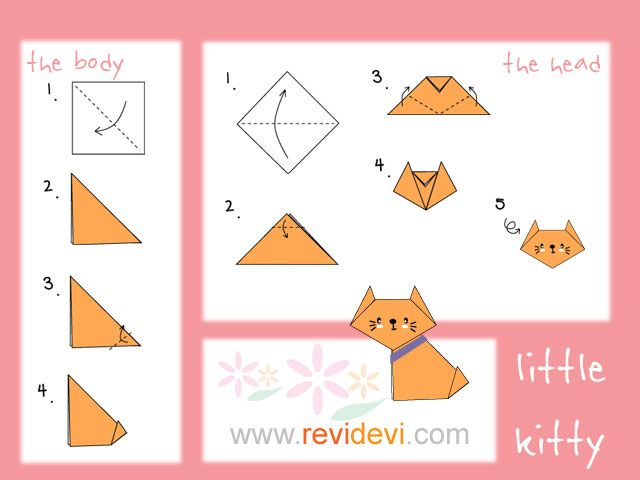 how to make origami cat {girl scouts} origami cat, origami, how