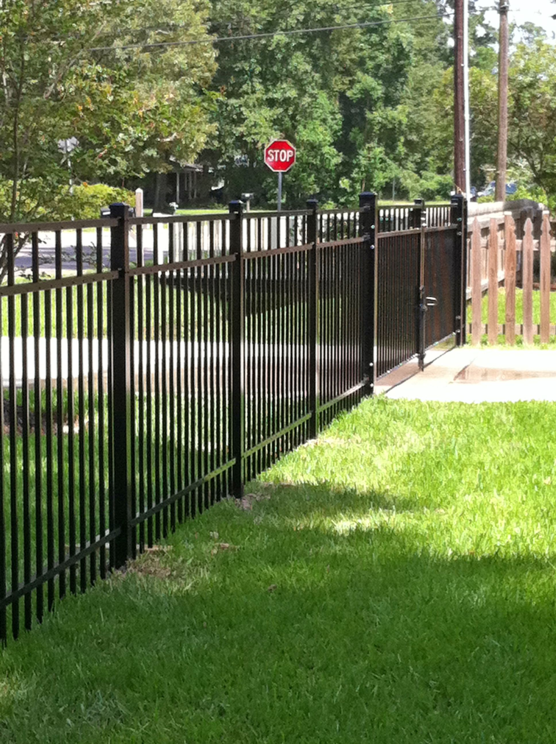 Closed Picket 4ft Aluminum Fence With Double Gate Beautiful Fence Design With Closed Pickets Which Is Also Regulated Fence Prices Aluminum Fence Fence Design