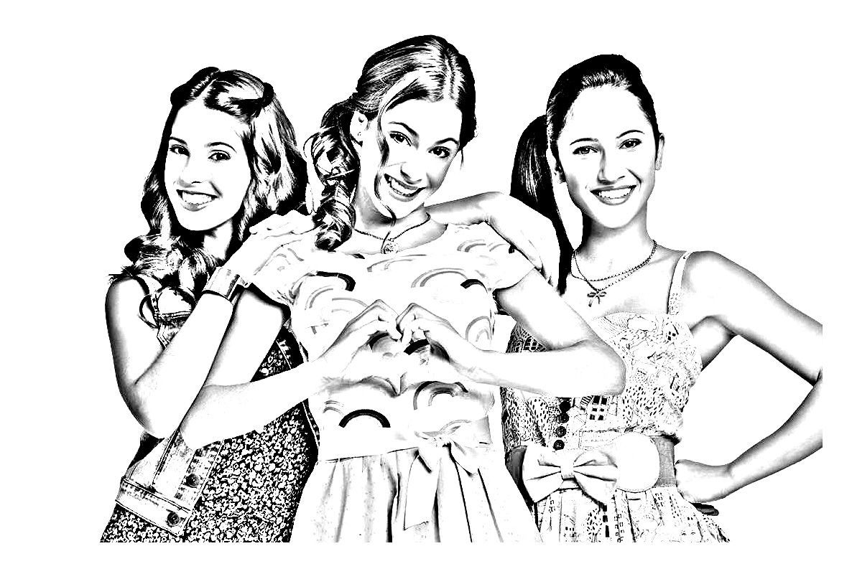 pour imprimer ce coloriage gratuit coloriage violetta_francesca_camila 2 cliquez sur l - Coloriage Gratuit Violetta