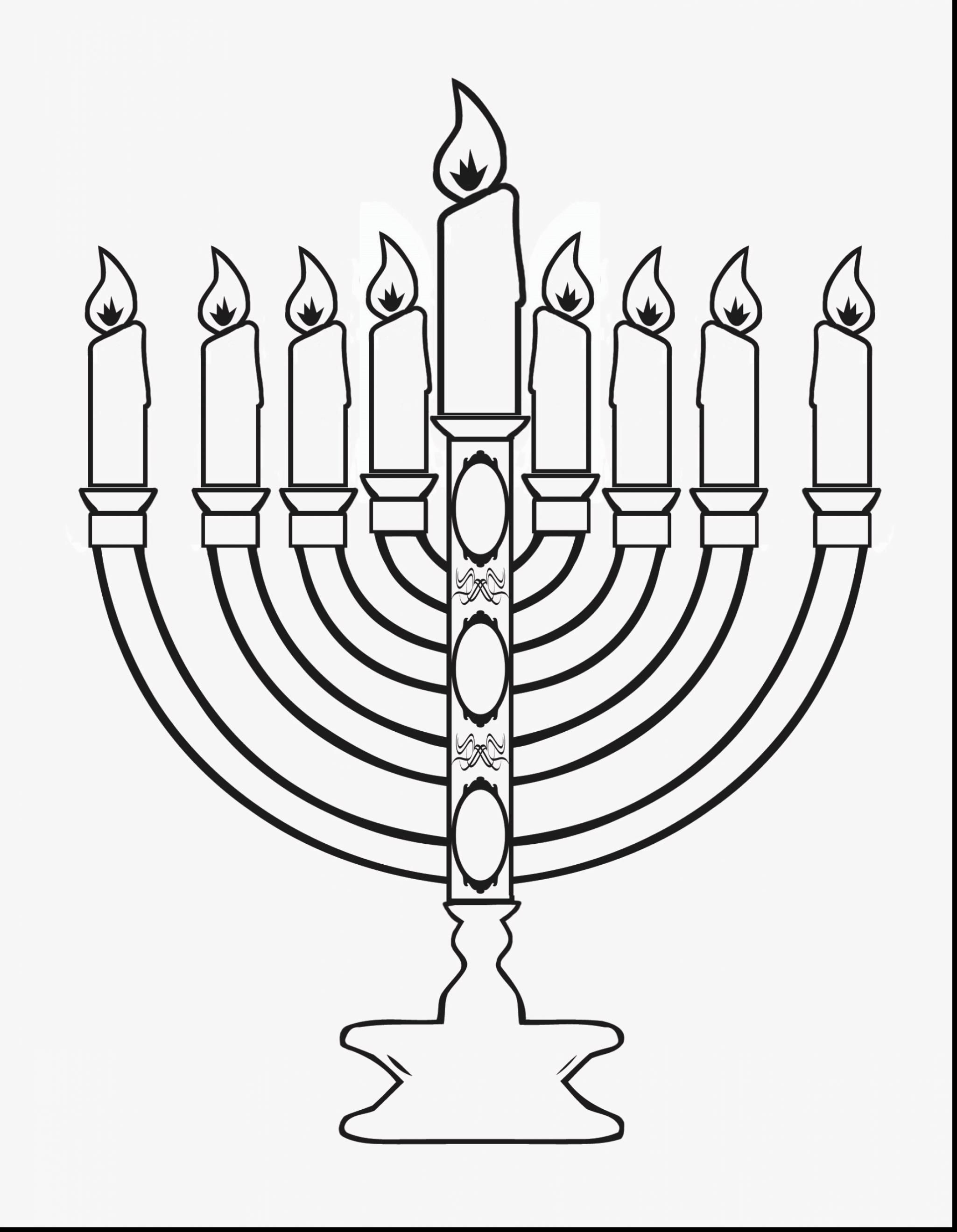 Hanukkah Menorah Outline Free Clip Art With Images Hanukkah
