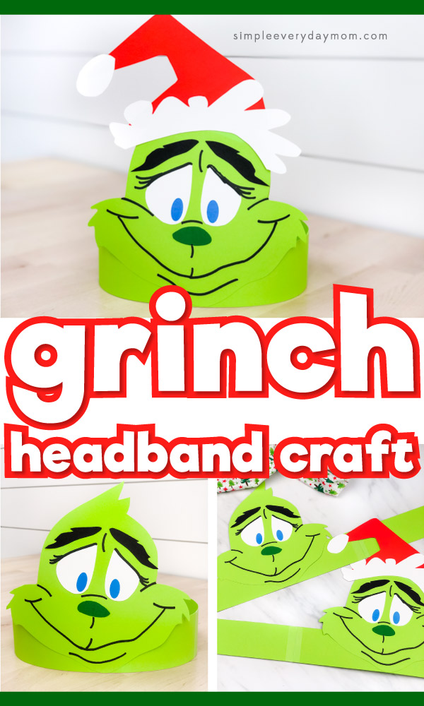 Grinch Headband Craft With Template Grinch Crafts Headband Crafts Winter Crafts For Kids