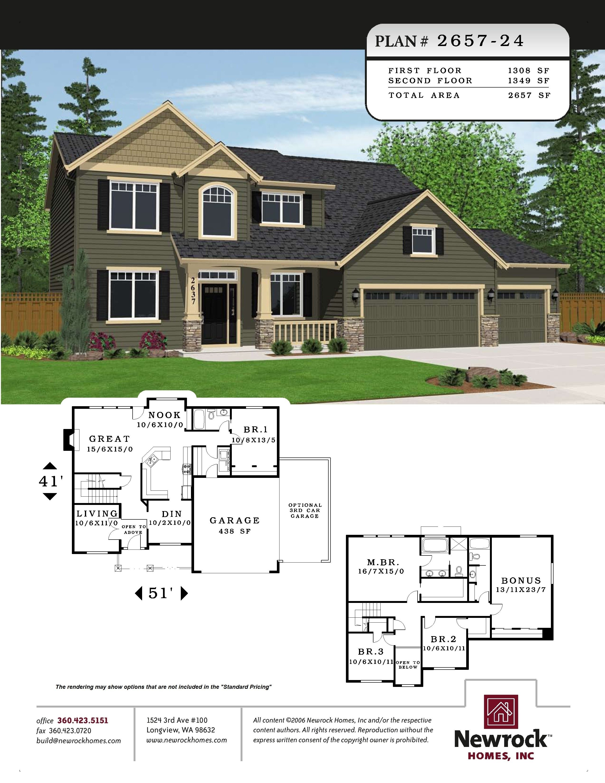 Plan 2657 24 Newrock Homes New House Plans House Plans Dream House Plans