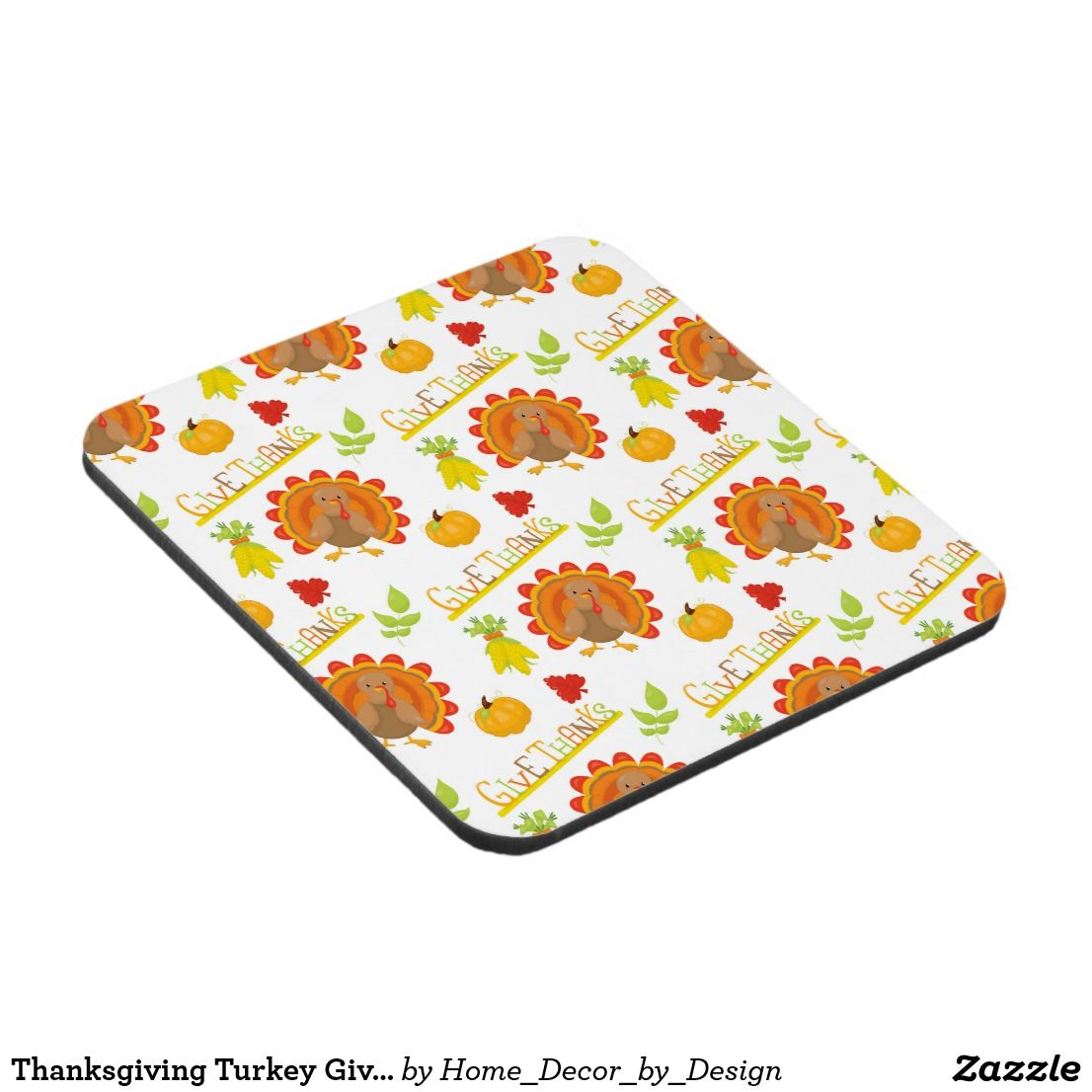 Thanksgiving Turkey Give Thanks Coaster