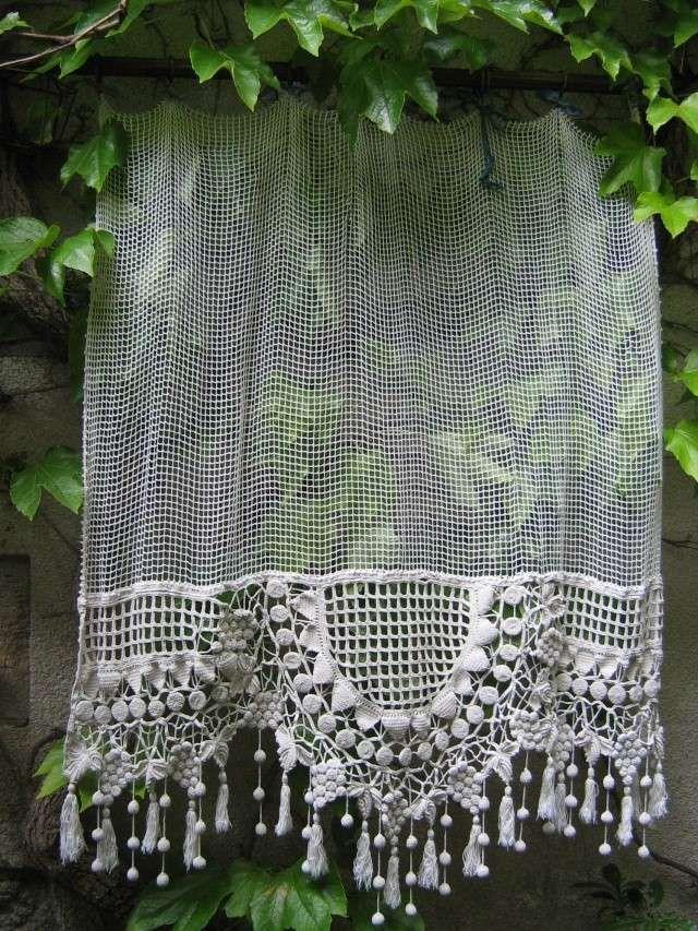 rideaux dentelle rideaux crochet