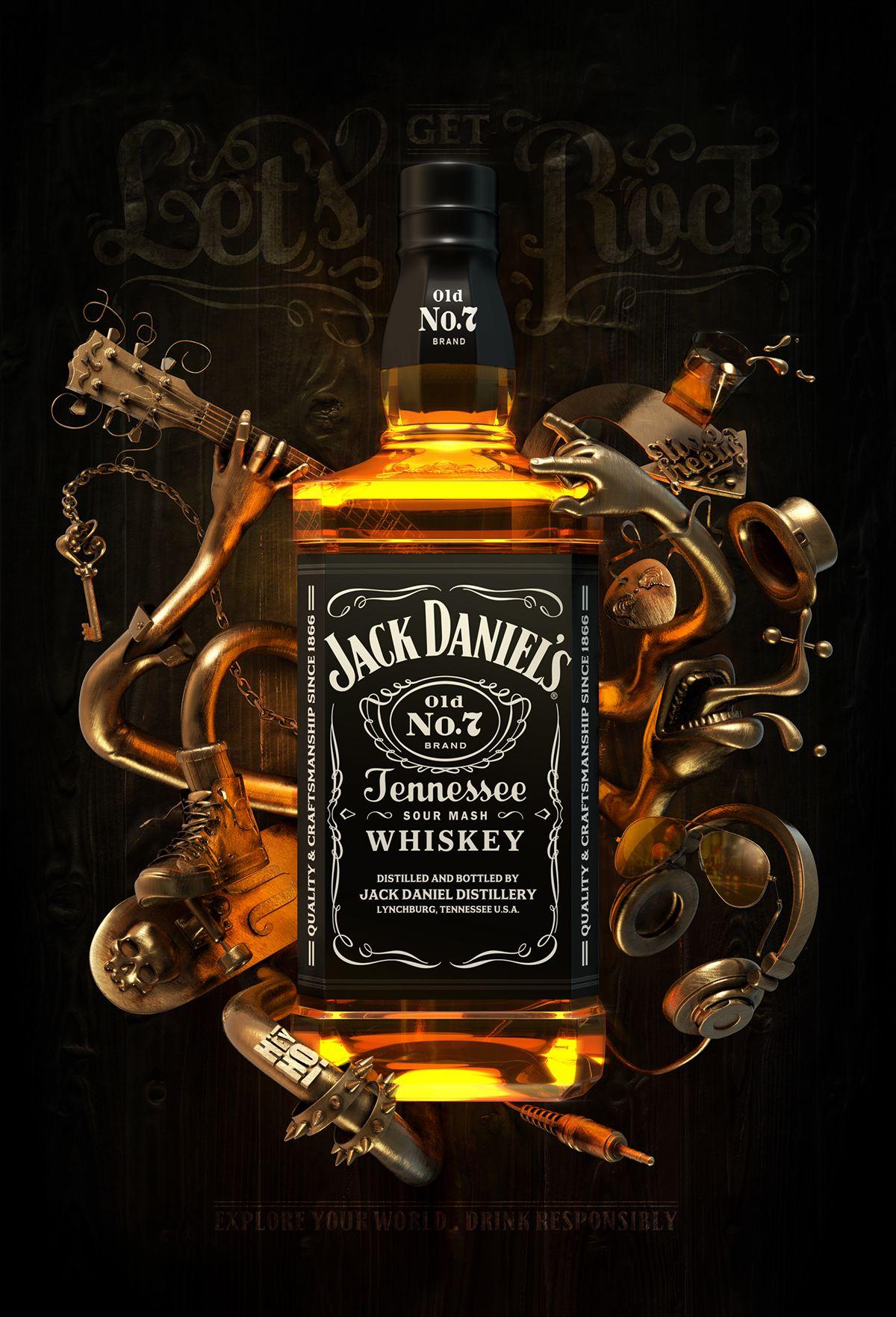 Jack Daniel S Poster On Behance Jack Daniels Jack Daniels Wallpaper Jack Daniels Bottle