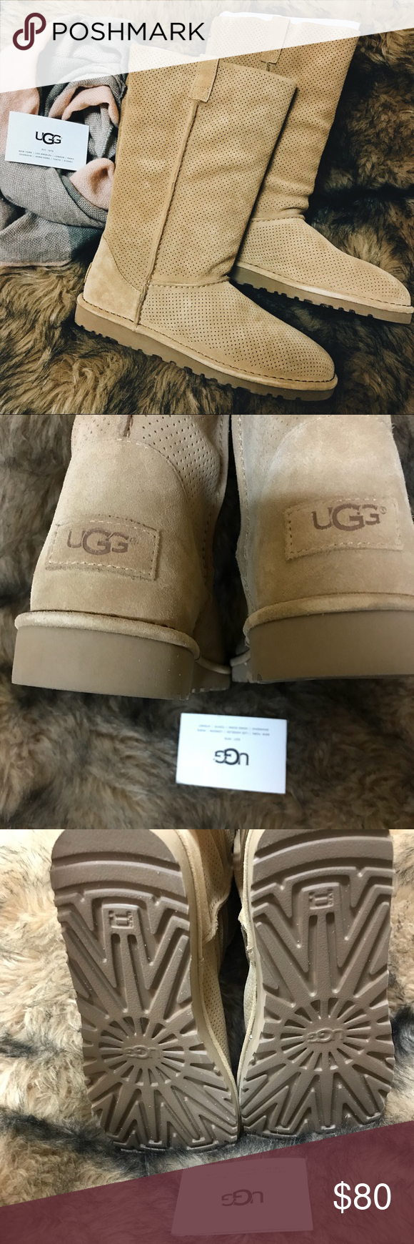 6cb3b124ffa UGG Classic Unlined Tall Perforated Boot New with tag * Genuine ...